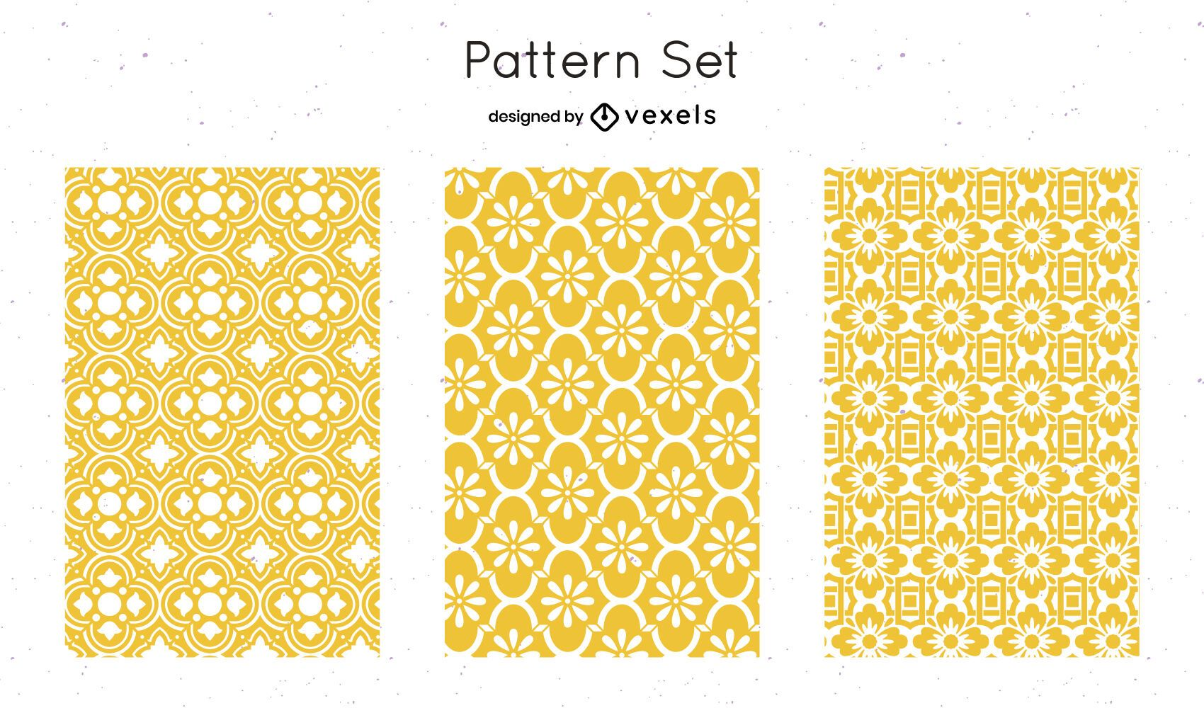 Yellow geometric pattern design