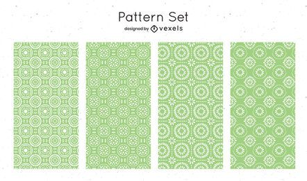 Green geometric pattern design