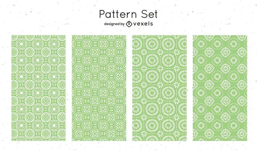 Green geometric pattern design