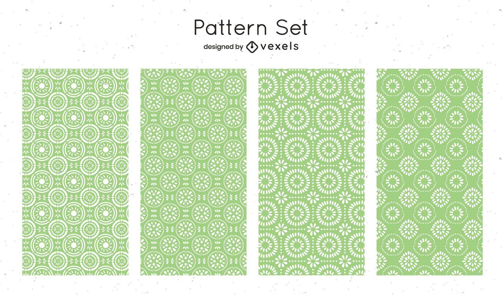 Diseño de patrón geométrico verde