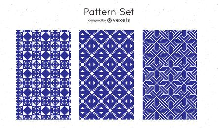 Blue geometric pattern design