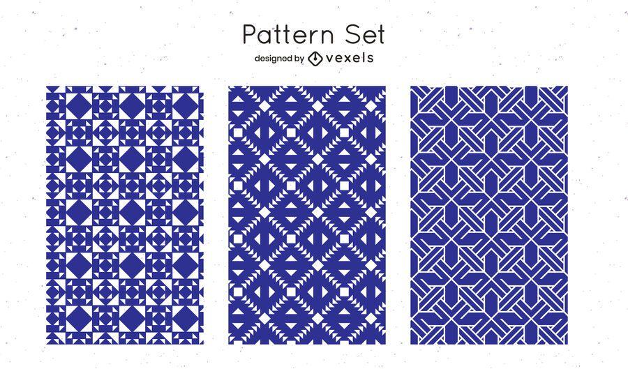 Desenho de padrão geométrico azul