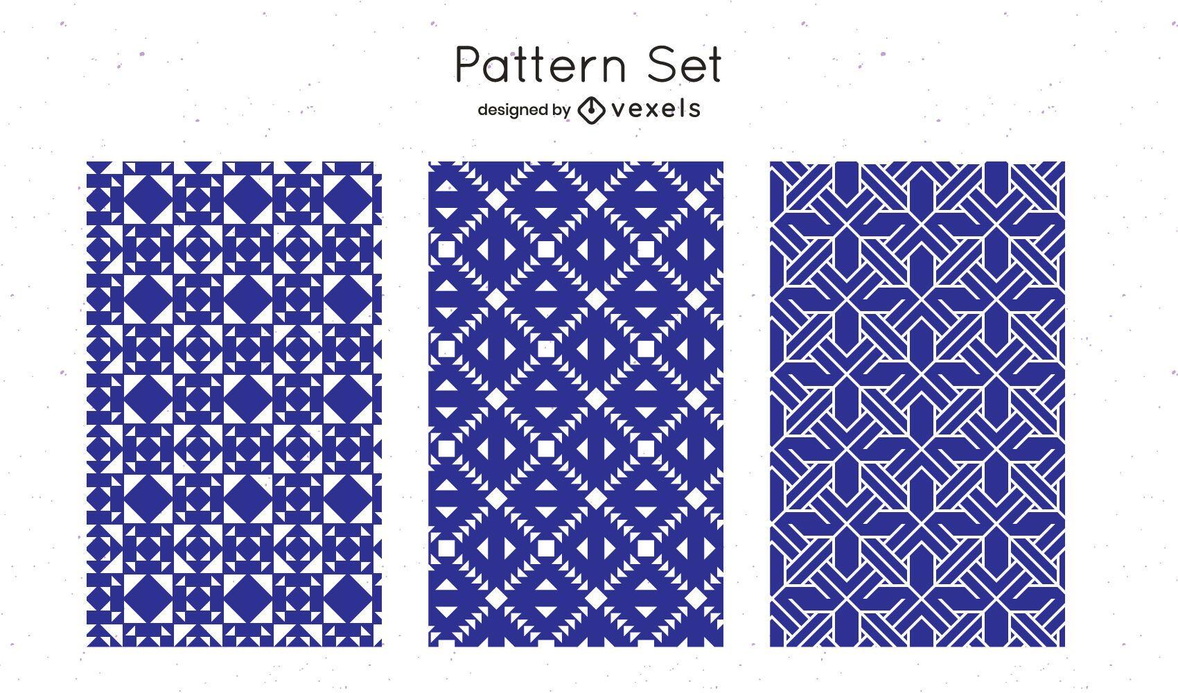 Blue geometric pattern design