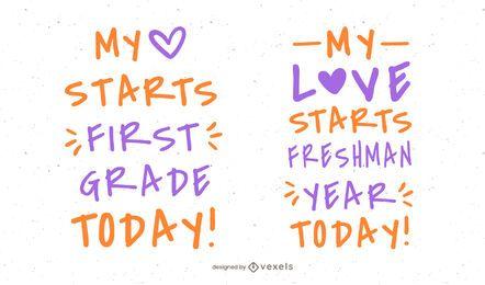 School Start Quote Set