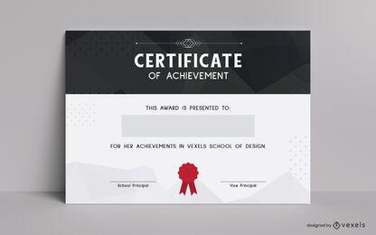 Diseño de plantilla de certificado de logros