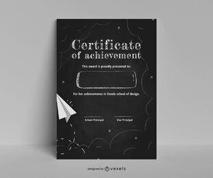 Diseño de plantilla de certificado de pizarra
