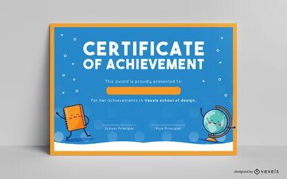 Diseño de plantilla de certificado para niños