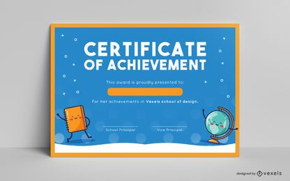 Kids Certificate Template Design