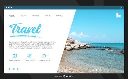 Modelo de página de destino para viagens na praia