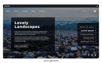 Reiselandschafts-Landingpage-Vorlage