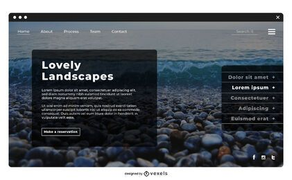 Travel landscape landing page template