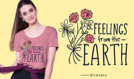Sentimentos do design da camiseta de terra