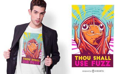 Design de camiseta com citações do assistente de lagarto