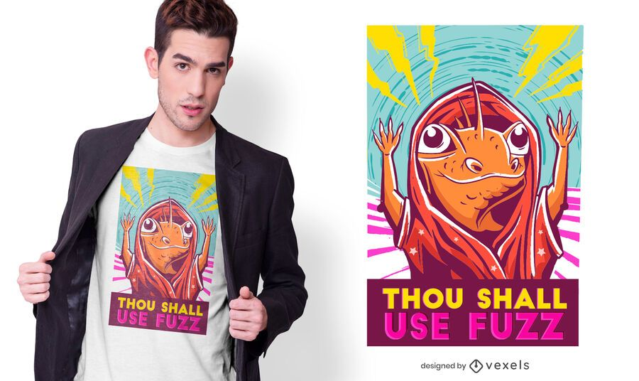 Lizard Wizard Quote T-shirt Design