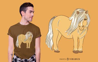 Design de t-shirt de pônei de Shetland