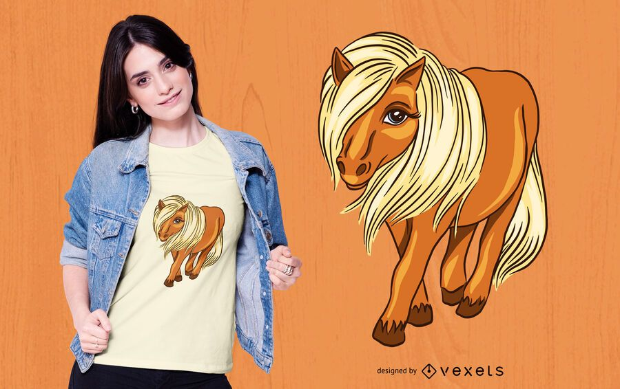 Scottish shetland pony t-shirt design