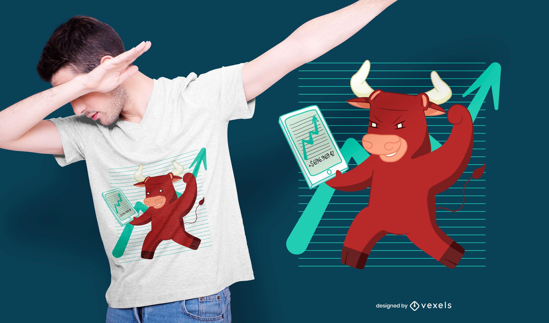 Bull stocks t-shirt design