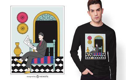 Diseño de camiseta de hombre de cultura de Irak