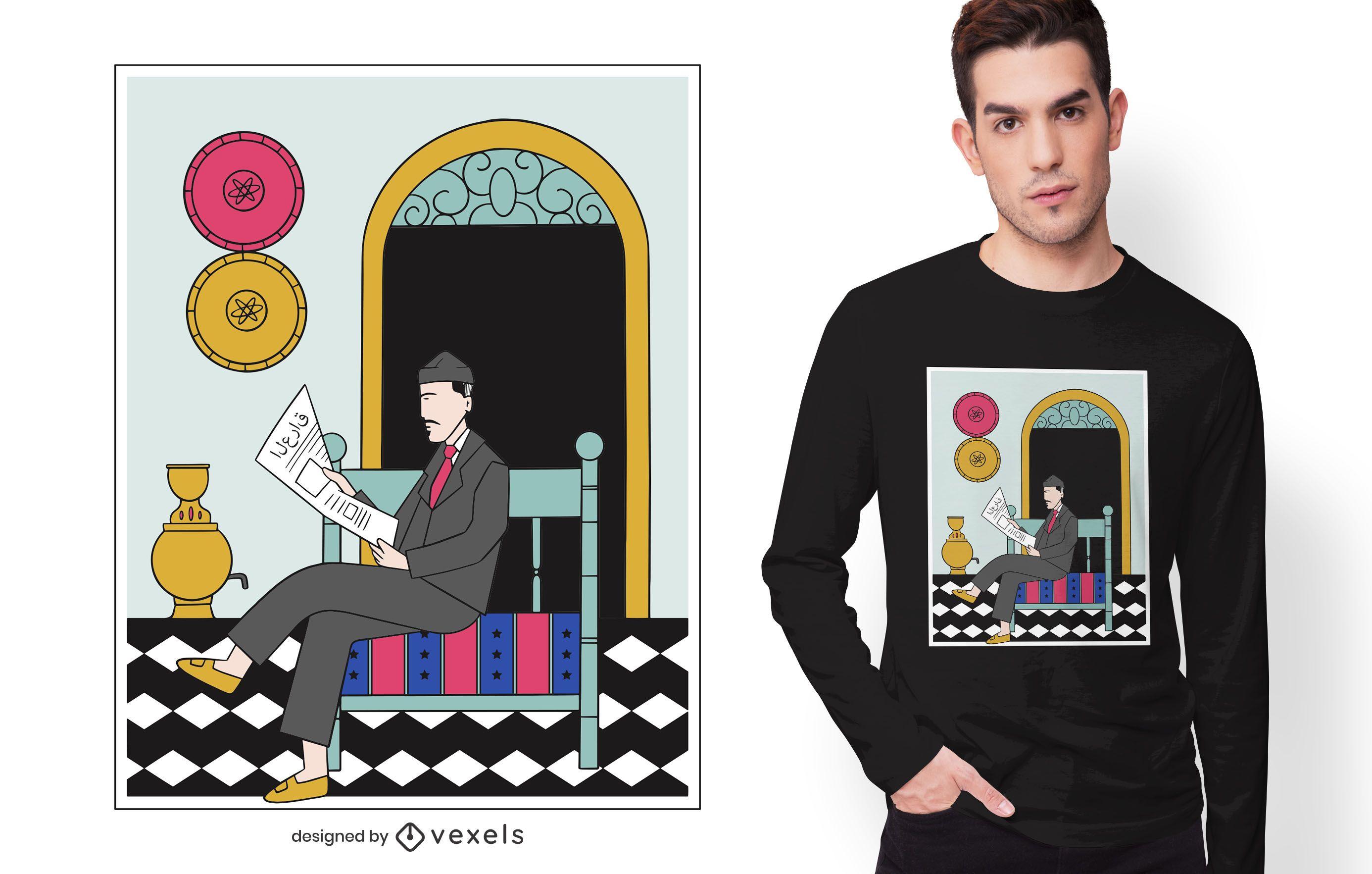 Iraq Culture Man T-shirt Design