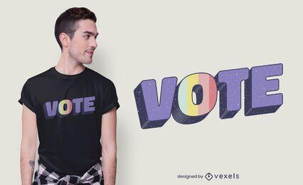 Vote quote t-shirt design
