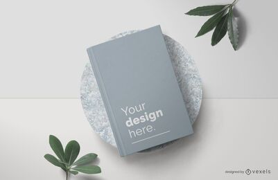 Hardcover book mockup composition