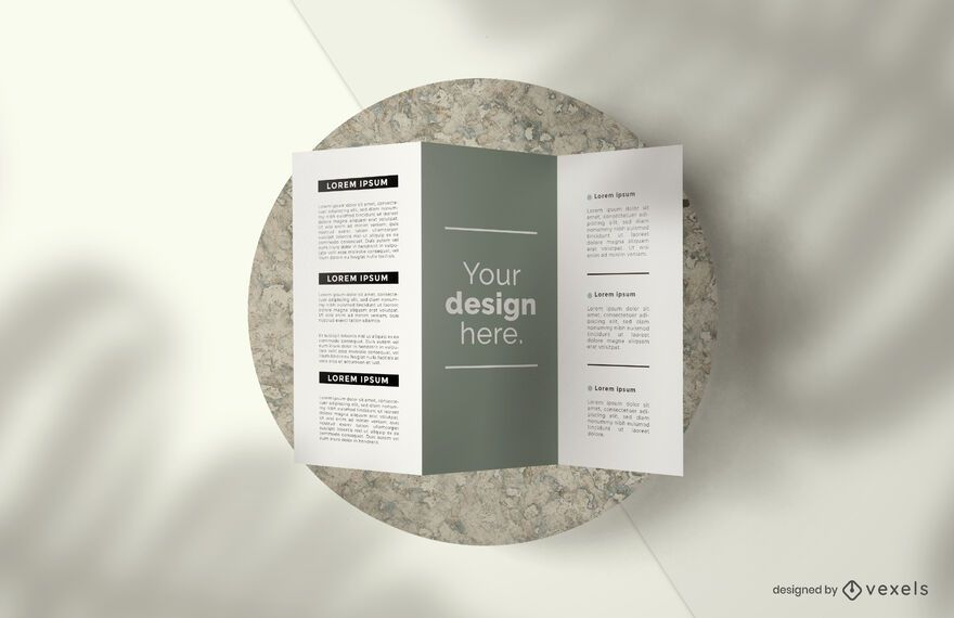 Triptych brochure mockup composition