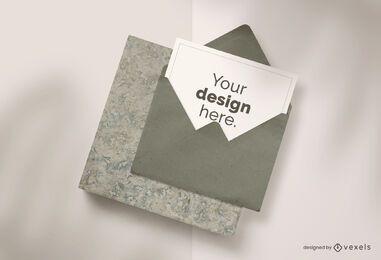 Composição de maquete de envelope de cartão