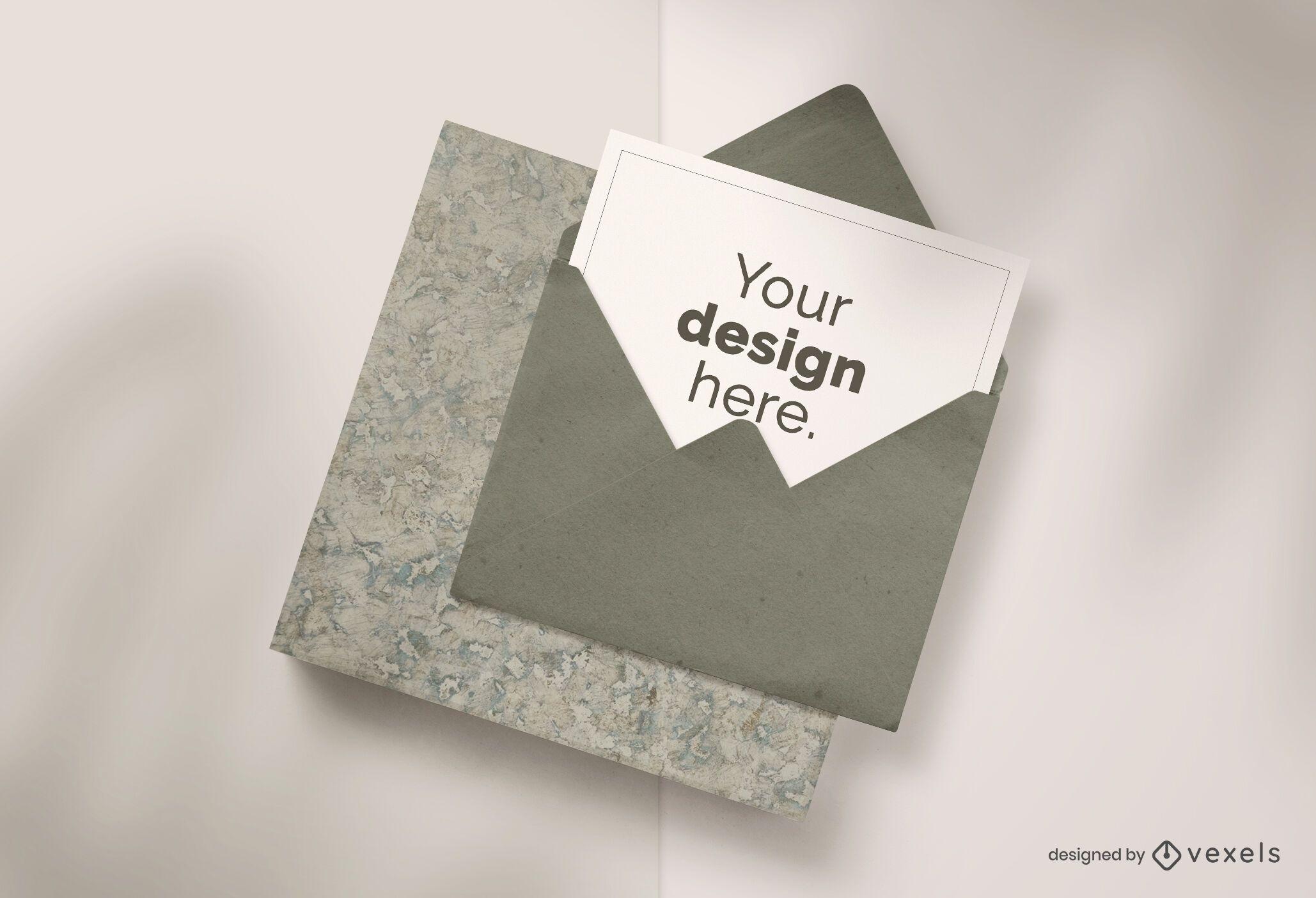 Card envelope mockup composition