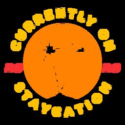 Insignia tropical de vacaciones 2020