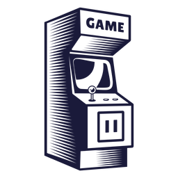 Arcade cabinet illustration