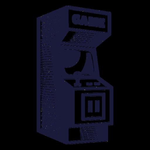 Arcade cabinet illustration