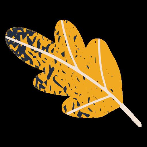 Ilustración de hoja de otoño