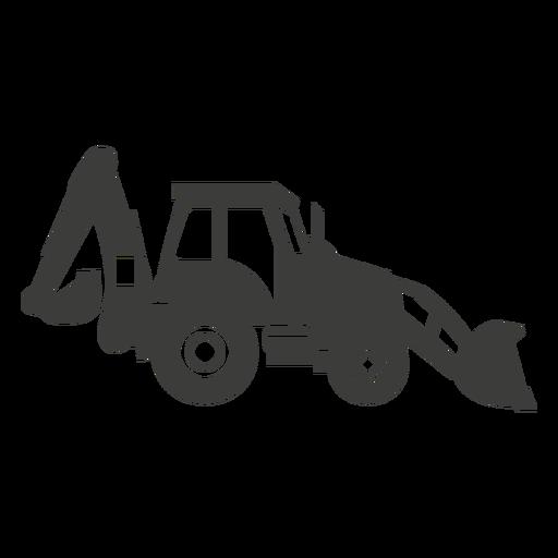 Backhou construction machine silhouette Transparent PNG