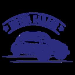 Diseño de placa vintage de coche escarabajo
