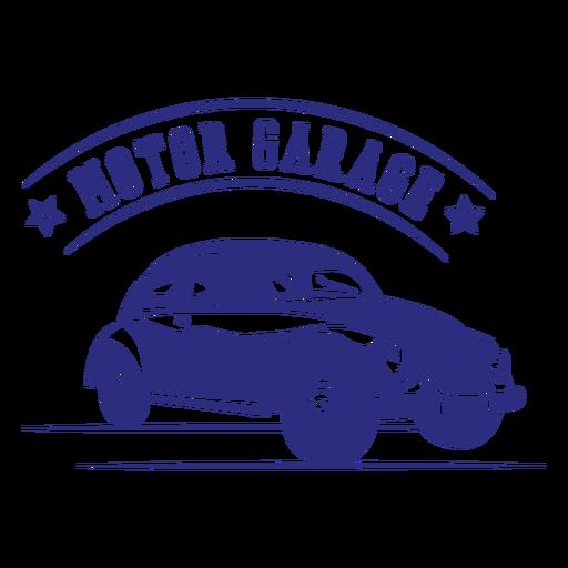 Beetle car vintage badge design