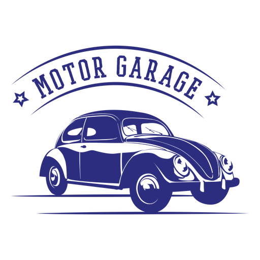 Design de distintivo vintage de carro fusca