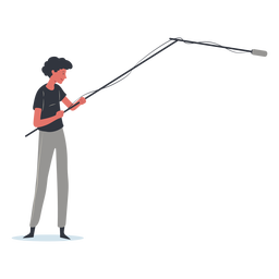 Boom operator character illustration