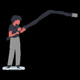 Ilustración de personaje de operador de pluma
