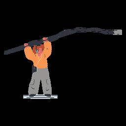 Ilustración de personaje de hombre de operador de auge