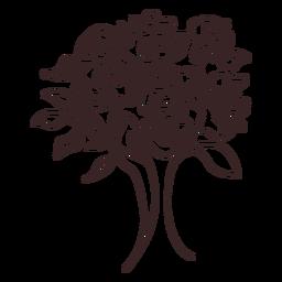 Buquê de rosas desenho de linha design