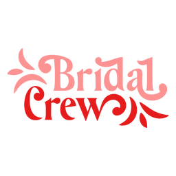 Bridal crew flowery design