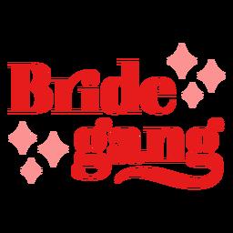 Diseño brillante de la banda de la novia