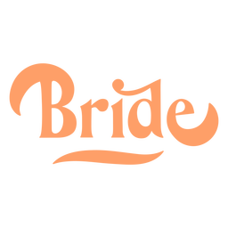 Diseño de texto redondeado de novia