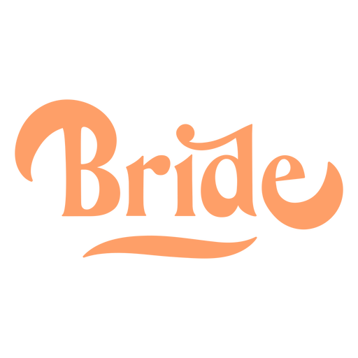 Bride rounded text design