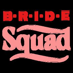 Diseño de manchas de letras del escuadrón de la novia