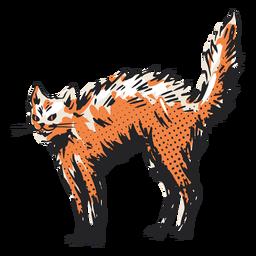 Ilustração de gato eriçada