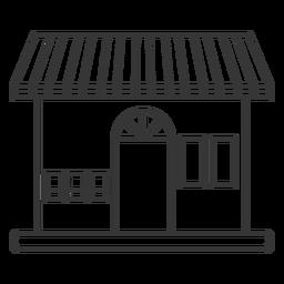 Edificio de fachada de trazo de tienda