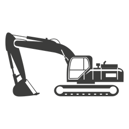 Bulldozer construction machine silhouette