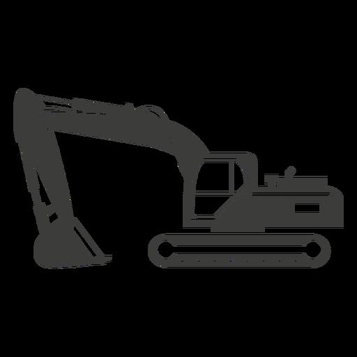 Bulldozer construction machine silhouette