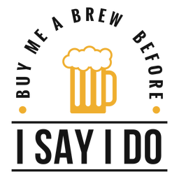 Buy me a brew beer lettering